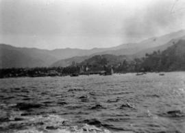 [View of Santa Catalina Island from the water]