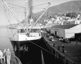 """S.S. Aleutian"" at dock in Ketchikan Harbour"