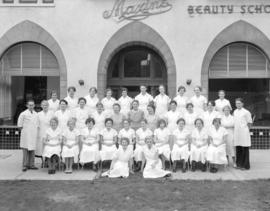 Maxine's Beauty School - 1936 Class [in front of 1211-1215 Bidwell Street]