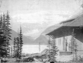Lake Louise, showing Chalet, Laggan, Rocky Mountains