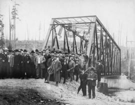 Opening of the Seymour Creek Bridge by Premier McBride