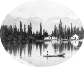 Bow River and Boat House, Banff, Alberta