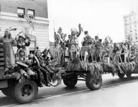 [A First Nations float in the Diamond Jubilee Parade]