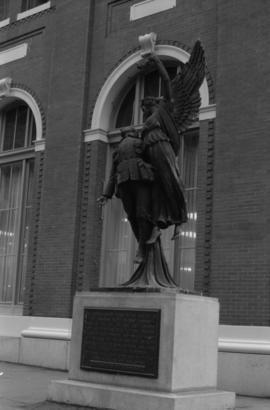 Angel of Victory, entire monument, 601 West Cordova Street