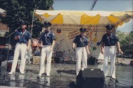 Vancouver Fire Department Band members on Chevron Stage