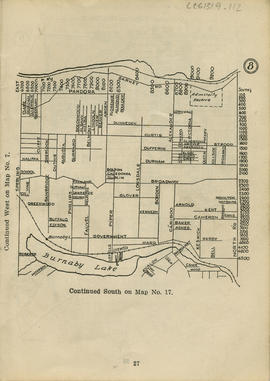 Sectional map and street directory of Vancouver : [North Road to Barnet Road to Sperling Avenue t...