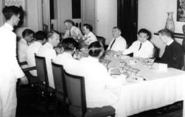 Sherwood Lett at dinner given in his honour by President Diem of Vietnam