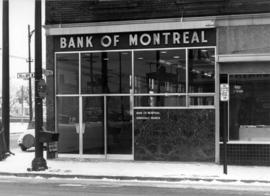 [Exterior of the Bank of Montreal on the southwest corner of 41st Avenue and West Boulevard]