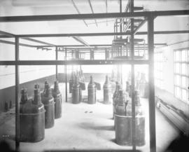 [Interior of partially constructed high voltage switch room for Buntzen Lake Power Plant number two]