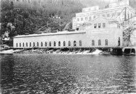 [The first Vancouver Power Company Limited plant at Buntzen Lake from the water]
