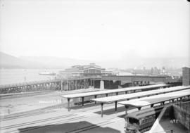[C.P.R. wharf, showing Pier D and railway station]