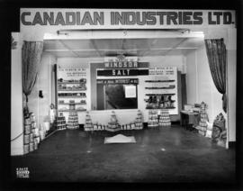 Canadian Industries display of Windsor salt and other food products