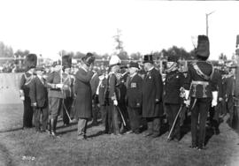 [Duke of Connaught inspecting] Military [ Officers of the]  72nd [Reg.]