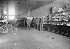 [Interior of Vancouver Auto and Cycle Co. - 108 E. Hastings Street]