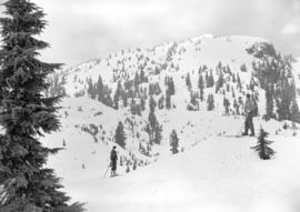 [Two skiers in the slopes of Mt. Seymour, B.C.]