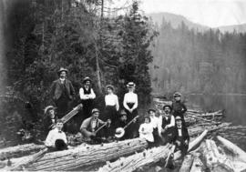 [Unidentified group at] Lynn Valley