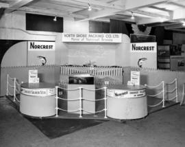 North Shore Packing Co. display of Norcrest brand fish products