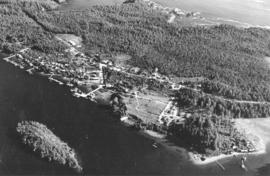 [Aerial view of Ucluelet]