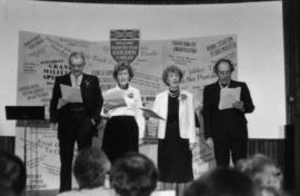 Norman Young, Marguerite Ford, May Brown and Harry Rankin deliver a theatrical presentation