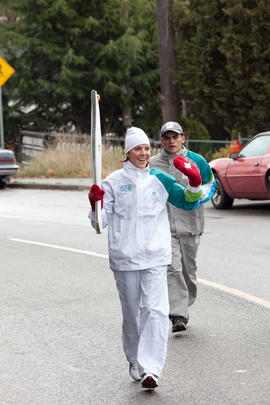 Day 001, torchbearer no. 024, Beatric E - Gill Esquimalt