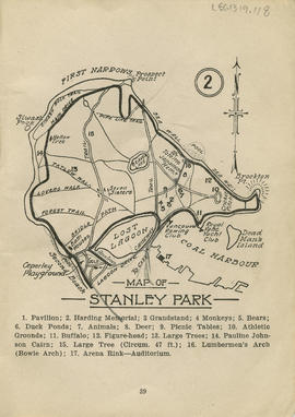Sectional map and street directory of Vancouver : map of Stanley Park