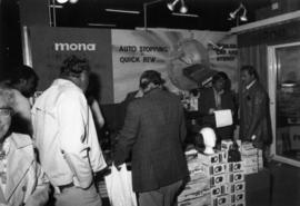 Mona display of stereos and headphones