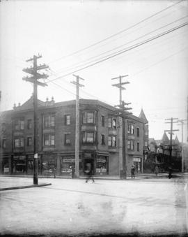[View of southeast corner of Pender and Burrard Streets]