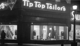 [Exterior view of Tip Top Tailors store]
