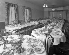 [View of] supper room [for] Bayview Telephone Operator's dance at Seymour St[reet] offices