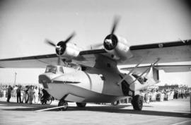[Launch of the first PBY Catalina from the Boeing plant on Sea Island]