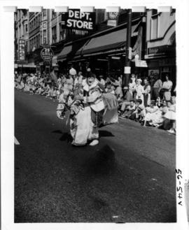 Clown in 1956 P.N.E. Opening Day Parade