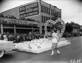 City of Bellingham float in 1953 P.N.E. Opening Day Parade
