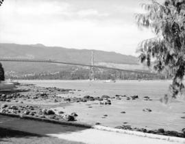 [View of] Lions Gate Bridge from Stanley Park