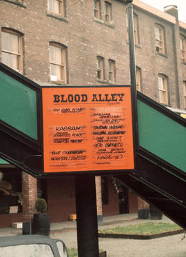 Blood Alley before reconstruction [- Blood Alley Square sign]
