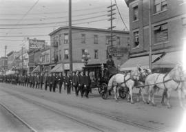 Funeral of Detective Richard Levis [procession - Main Street]