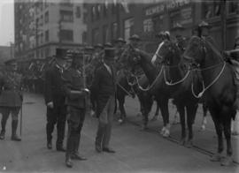 Lord Byng inspecting R.C.M.P on horses