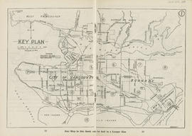 Sectional map and street directory of Vancouver, British Columbia : key plan