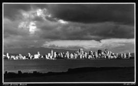 [View of West End and downtown Vancouver] from Jericho Beach