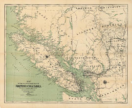 Map of the south-western part of British Columbia