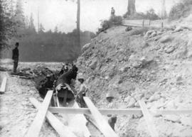 Capilano Waterworks System [laying pipes]