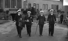 [Vice Admiral Percy W. Nelles and others at the Vancouver Airport]