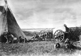 [Northwest Mounted Police - Division P in camp near Edmonton, N.W.T.]