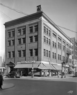 [Exterior of building on the northeast corner of Georgia Street and Seymour Street]