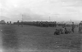 [Inspection of 2nd Battalion, 5th Regiment, Canadian Garrison Artillery, of the Cambie Street Gro...