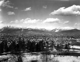 [View looking northeast from Queen Elizabeth Park]