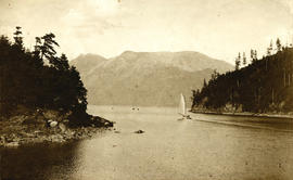 Snug Cove and sailboat, Bowen Island, B.C.