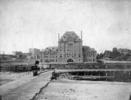 [View of the rear of the second C.P.R. Station at the foot of Granville Street]