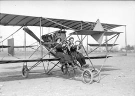 [Mr. and Mrs. William McIntosh Stark in a Curtiss School airplane]