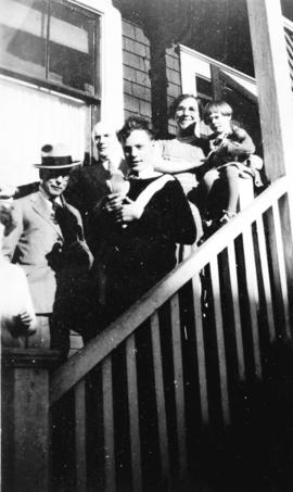 [L.D. Taylor with George J. Fowler family]