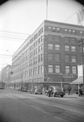 [Exterior view of Woodward's Department Store]